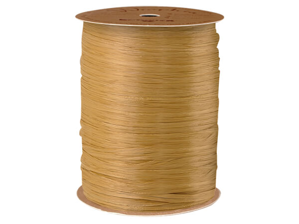 Kraft Matte Raffia Ribbon, 100 yards