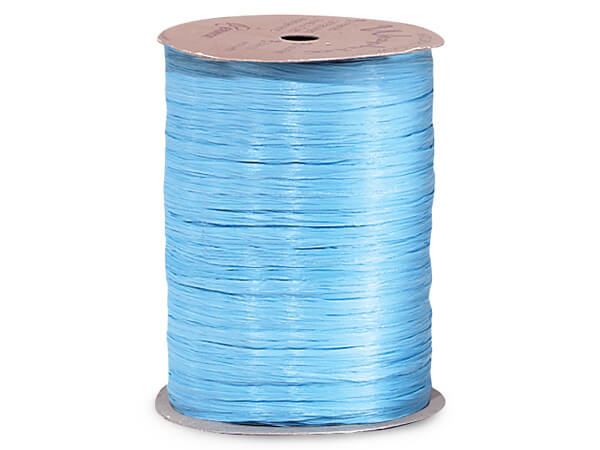 Williamsburg Blue Matte Raffia Ribbon, 100 yards