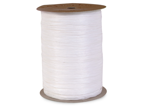 White Matte Raffia Ribbon