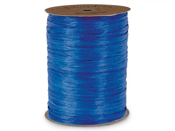 Cobalt Matte Raffia Ribbon