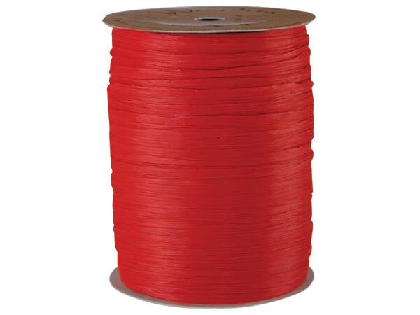 Red Matte Raffia