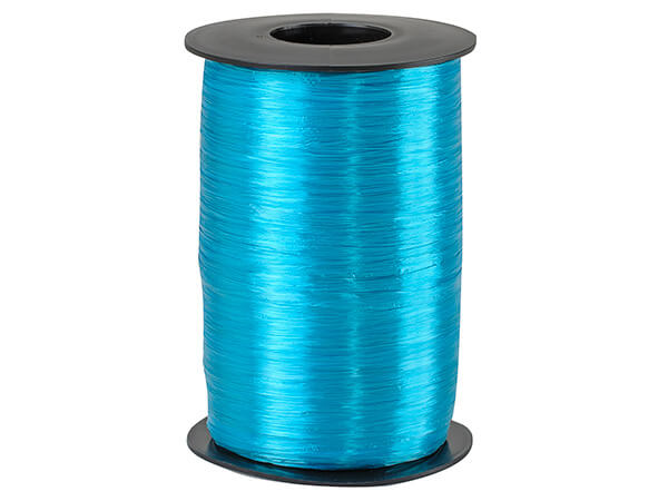 Aqua Pearlized Raffia Ribbon, 500 yards