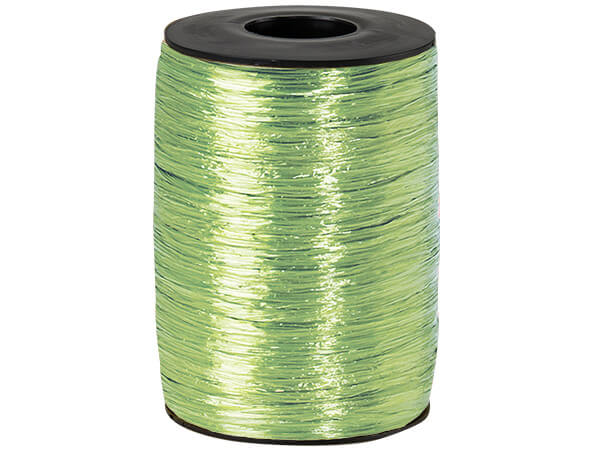 Jungle Green Pearlized Raffia Ribbon, 500 yards