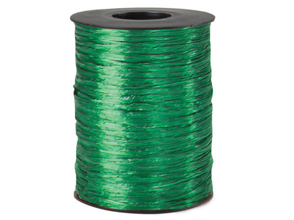 Kelly Pearlized Raffia Ribbon, 500 yards