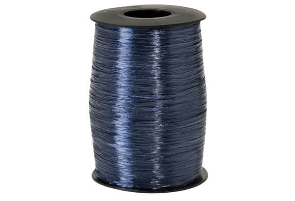 Navy Blue Pearlized Raffia Ribbon, 500yards