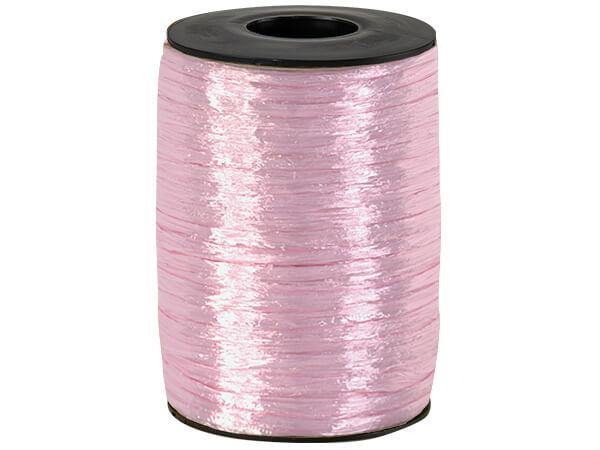 Pink Pearlized Raffia Ribbon, 500 yards