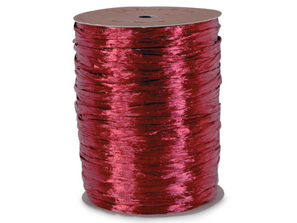 Burgundy Pearlized Raffia Ribbon