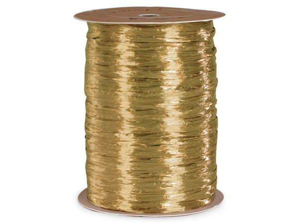 Champagne Pearlized Raffia Ribbon, 100 yards