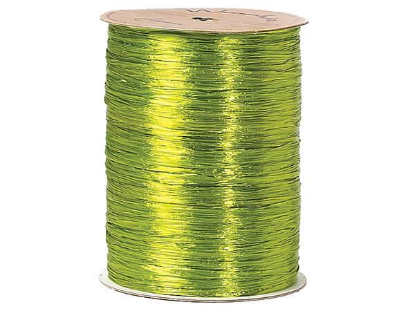 Chartreuse Pearlized Raffia Ribbon