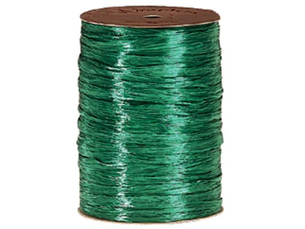 Emerald Pearlized Raffia Ribbon, 100 yards