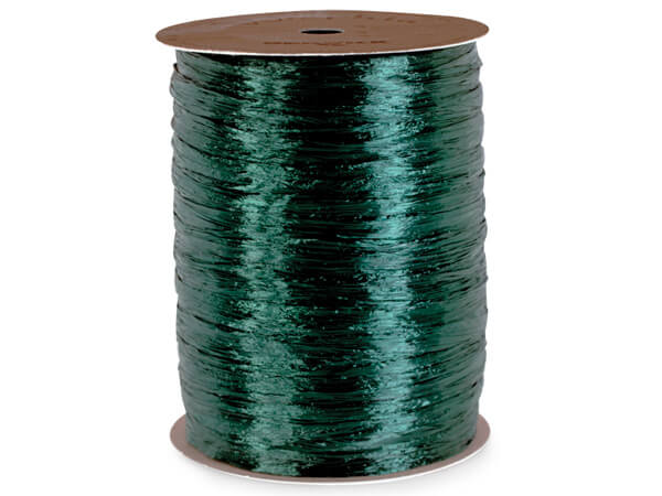 Hunter Pearlized Raffia Ribbon