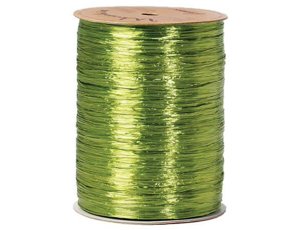 Jungle Green Pearlized Raffia Ribbon