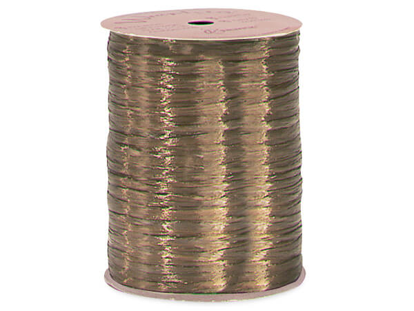 Milk Chocolate Pearlized Raffia Ribbon, 100 yards