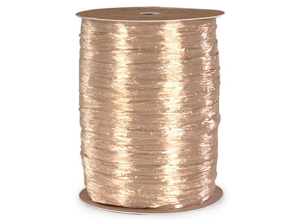 Oatmeal Pearlized Raffia Ribbon, 100 yards