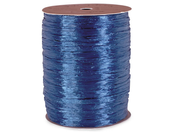 Royal Blue Pearlized Raffia Ribbon, 100 yards
