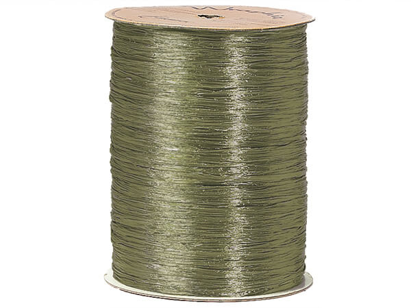 Sage Pearlized Raffia Ribbon, 100 yards