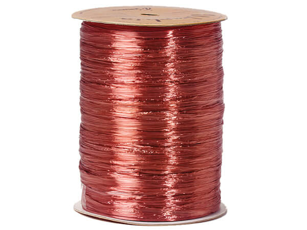 Terra Cotta Pearlized Raffia Ribbon