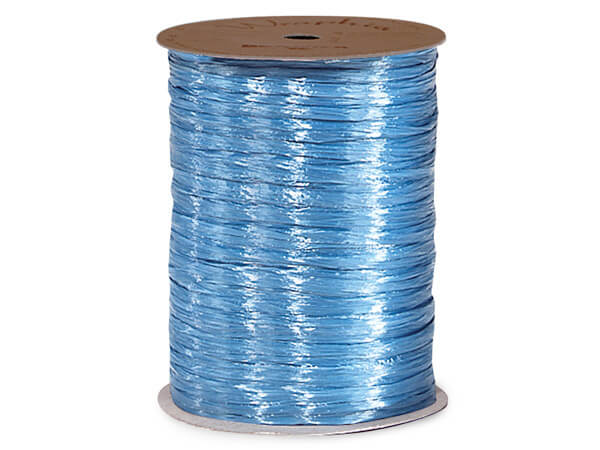 Williamsburg Blue Pearlized Raffia Ribbon