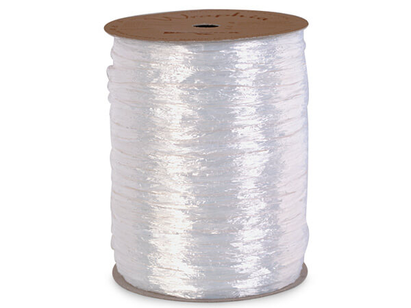 White Pearlized Raffia Ribbon
