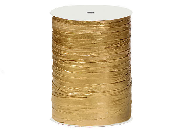 Metallic Gold Paper Raffia Ribbon, 100 yards