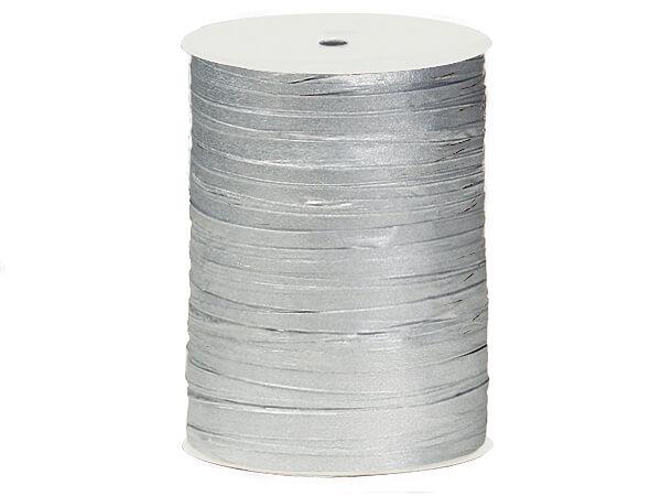 Metallic Silver Paper Raffia Ribbon