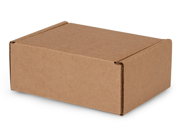 "Brown Kraft Tab Lock Mailer Boxes, 7x5.5x3"", 50 Pack"