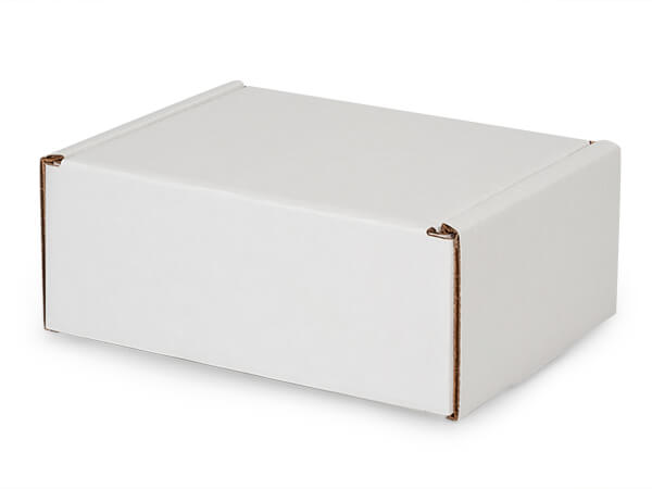 "White Kraft Tab Lock Mailer Boxes, 7x5.5x3"", 50 Pack"