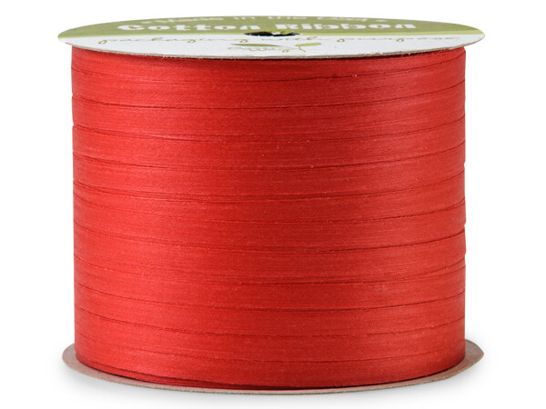 """**Red Cotton Curling Ribbon 3/16""""x50 yds"""