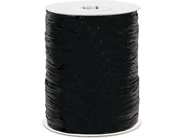 Black Paper Raffia Ribbon, 250 yards