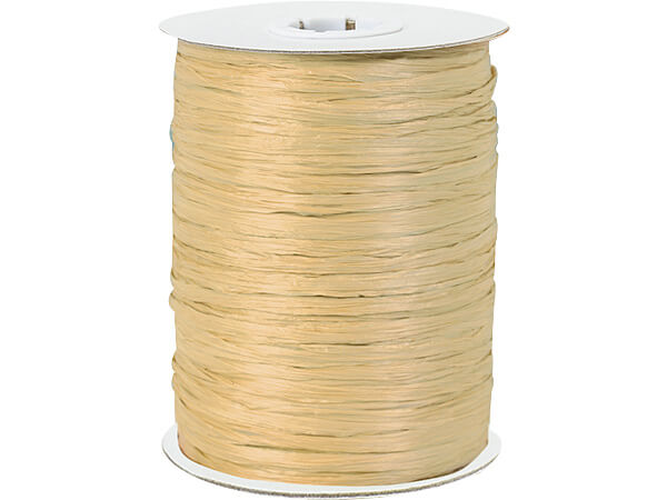 Oatmeal Paper Raffia Ribbon, 250 yards