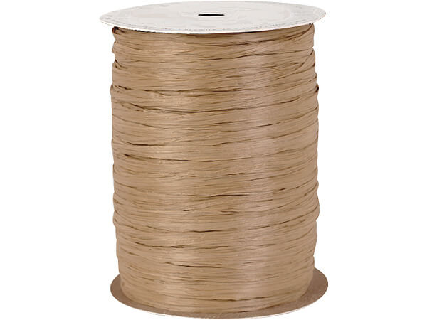 Kraft Paper Raffia Ribbon, 250 yards
