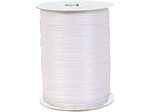 White Paper Raffia Ribbon, 250 yards