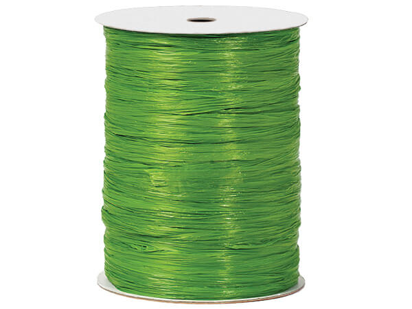 Apple Green Paper Raffia Ribbon, 100 yards