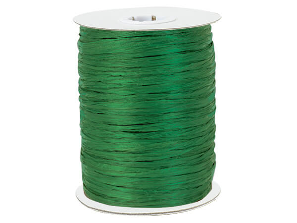 Emerald Paper Raffia Ribbon, 100 yards