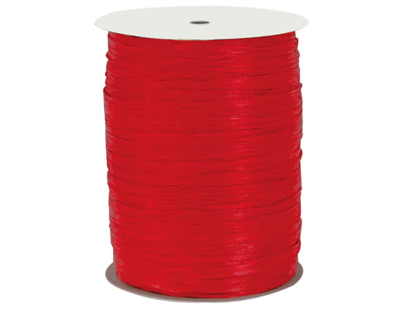 Hot Red Paper Raffia Ribbon