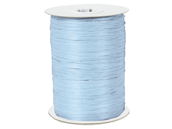 Light Blue Paper Raffia Ribbon, 100 yards