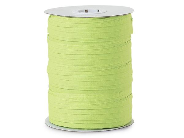 Lime Green Paper Raffia Ribbon, 100 yards