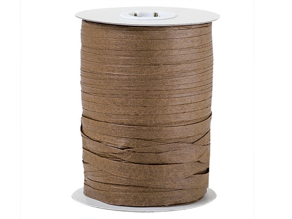 Milk Chocolate Paper Raffia Ribbon, 100 yards