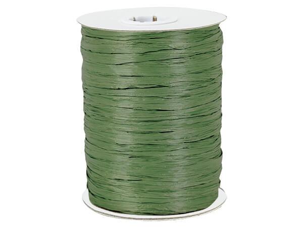 Olive Paper Raffia Ribbon, 100 yards