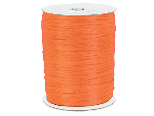 Orange Paper Raffia Ribbon