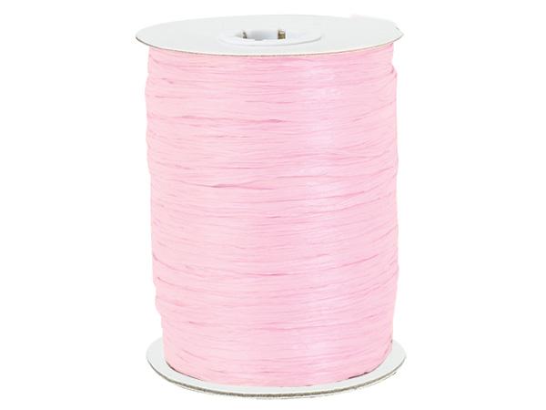 Pink Paper Raffia Ribbon, 100 yards