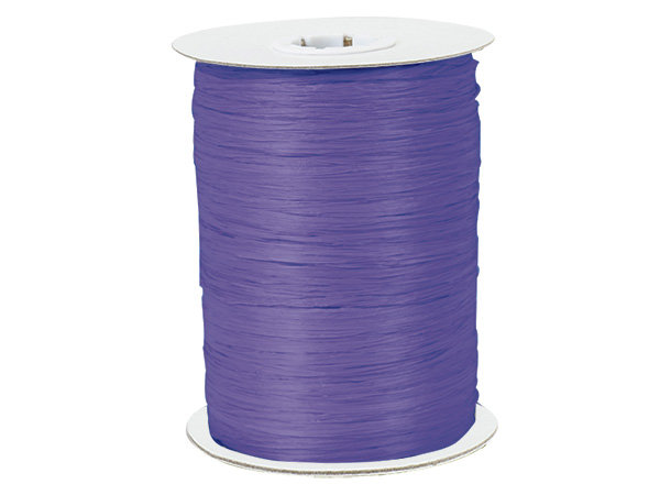Purple Paper Raffia Ribbon, 100 yards