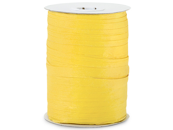 Sunshine Yellow Paper Raffia Ribbon