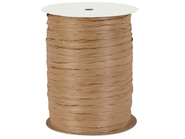 Kraft Paper Raffia Ribbon, 100 yards
