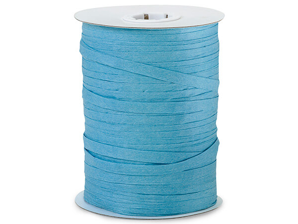 Turquoise Paper Raffia Ribbon, 100 yards