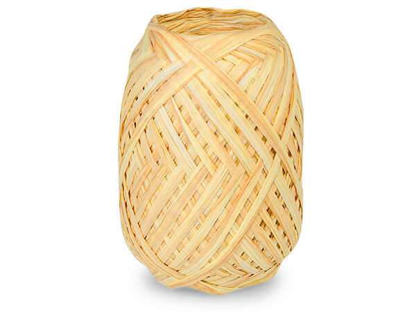 *Gold and Harvest Gold Dual Color Paper Raffia Ribbon Egg, 100 yards