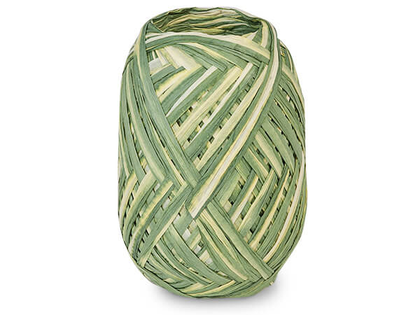 *Moss and Sage Dual Color Paper Raffia Ribbon Egg, 100 yards