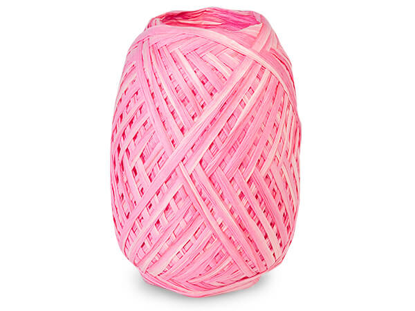 *Pretty Pink and Hot Pink Dual Colo Paper Raffia Ribbon Egg, 100 yards