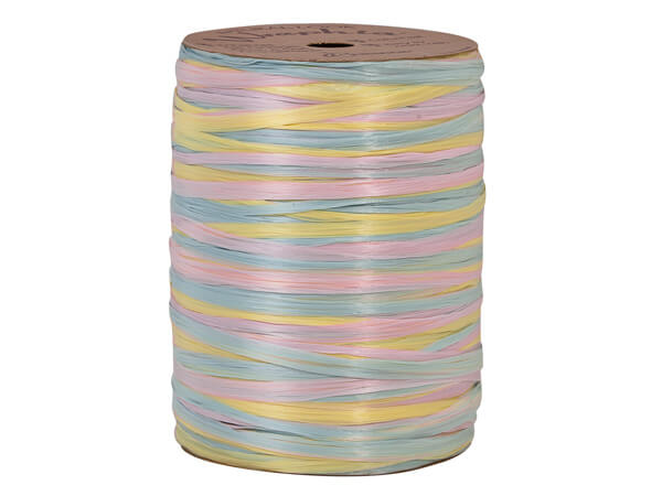 *Blue, Azalea Pink, & Yellow Matte~ 3-in-1 Raffia ~ 300 yds