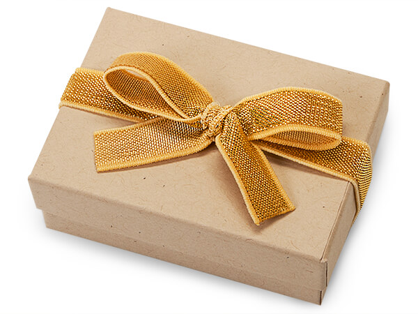"""8"""" Metallic Gold Stretch Wide Loops with Pre-Tied Bows, 50 pack"""